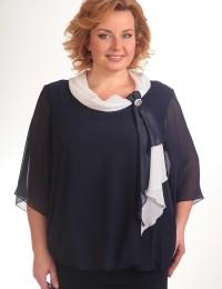 Блузка 380 синий Pretty